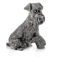Sterling Silver Schnauzer Sculpture