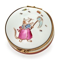 Round Souricette (Mouse) Limoges Box