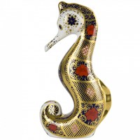Old Imari Seahorse Paperweight