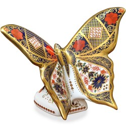 Old Imari Butterfly Paperweight