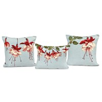 Fuchsia Flowers Tapestry Pillows