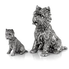 "Sterling Silver West Highland Terrier ""Westie"" Sculptures"