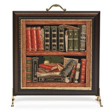 Library Tapestry Firescreen