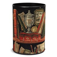 Library Tapestry Wastebasket