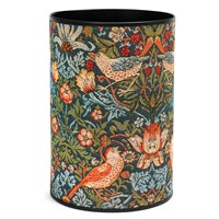 Strawberry Thief Tapestry Wastebasket, Blue