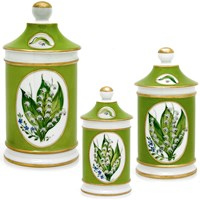 Lily of the Valley Pharmacy Jars