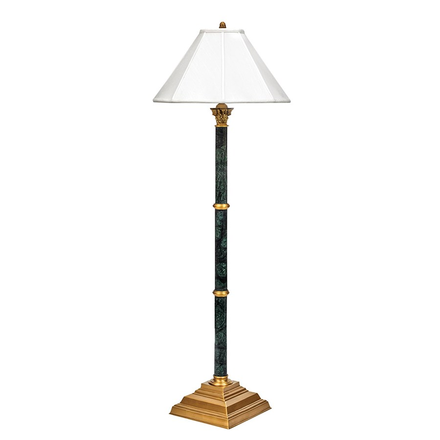 Dark Green Marble Floor Lamp
