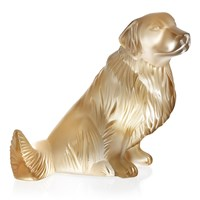 Lalique Golden Retriver Sculpture