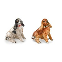 Sterling Silver Cocker Spaniel Scultpures