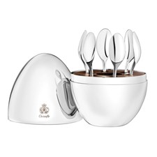 Christofle Mood Silverplated Espresso Set in Capsule