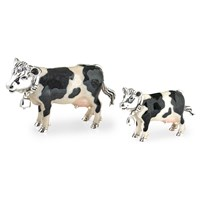 Sterling Silver Cow Sculptures
