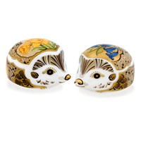 Royal Crown Derby Hedgehog Paperweights