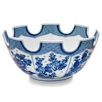 Mottahedeh Monteith Bowl, Blue and White