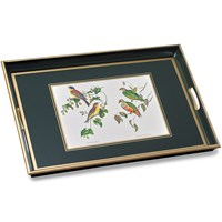Large Parrot Glass Tray, Green