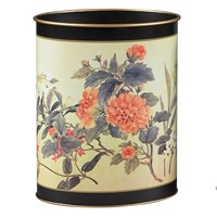 Chinese Flowers Wastebasket