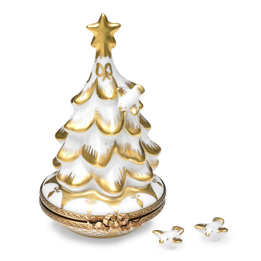 Christmas Tree Doves: Christmas Tree With Doves Limoges Box