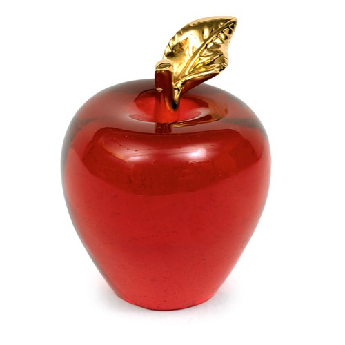 Daum Pate De Verre Red Apple