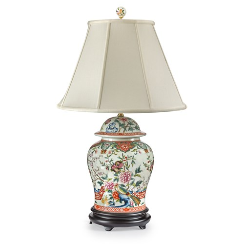 Floral and Birds Jar Lamp