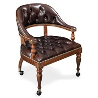 Mahogany Leather Game Chair