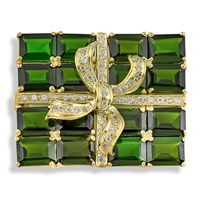 Chrome Diopside Gift Package Pin