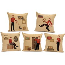Bell Boy Tapestry Pillows