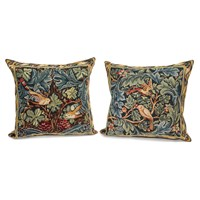 Tapestry Bird and Acanthus Pillows