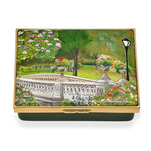 "Halcyon Days ""Summer in Central Park"" Enamel Box"