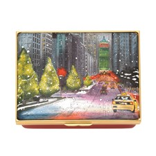 Halcyon Days Christmas on Park Avenue Enamel Box
