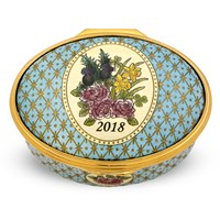 Halcyon Days 2018 A Year to Remember Enamel Box