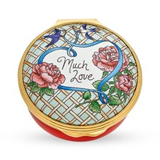 Halcyon Days Much Love Enamel Box