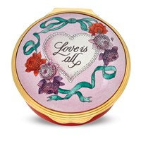 Halcyon Days Love is All Enamel Box