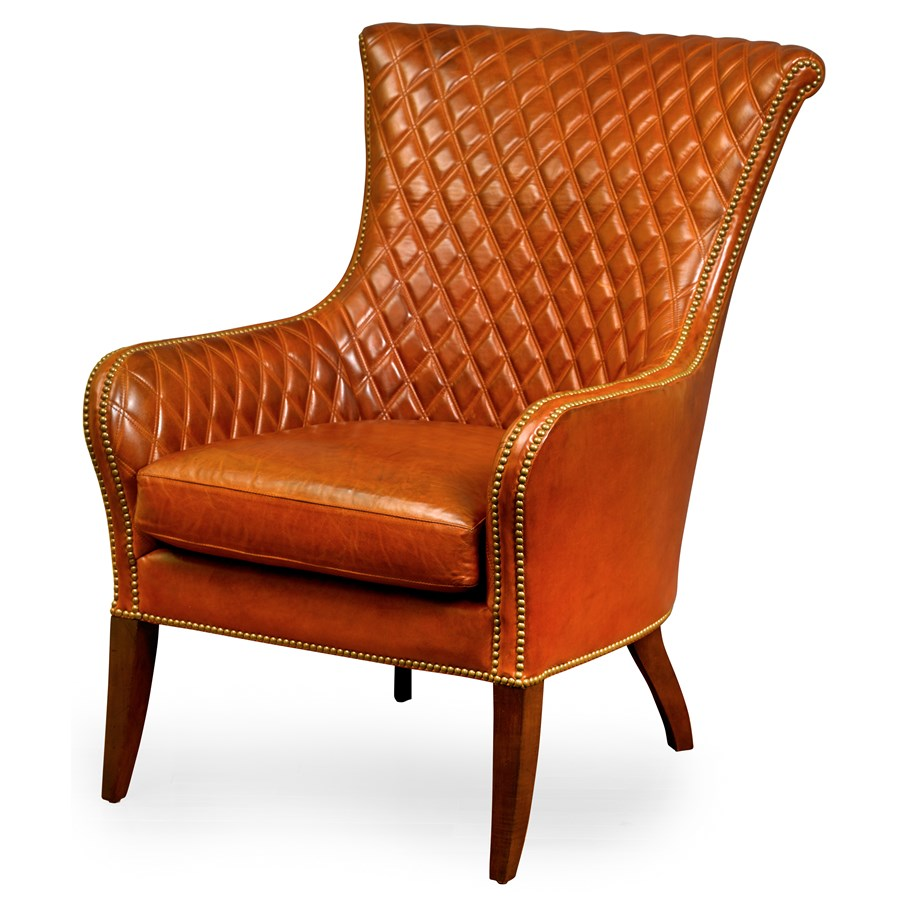 Charmant Wilson Quilted Chair, Burnished Brown. Hover To Zoom