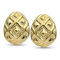 18k Gold Ornament Earrings
