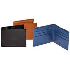 Leather Wallet with Solid Color Inside