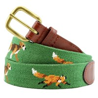 Fox and Hound Needlepoint Belt