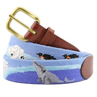 Polar Party Needlepoint Belt