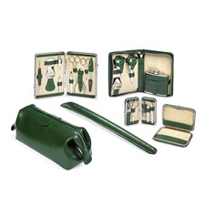 Leather Travel Accessories, Green