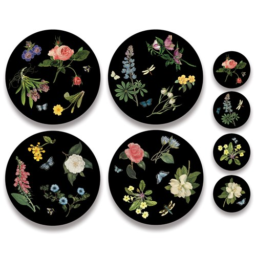 English Floral Mats and Coasters