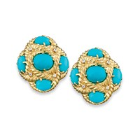 Turquoise Weave Earrings