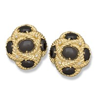 Black Onyx Weave Earrings