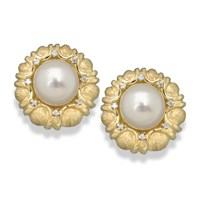 Pearl Scallop Earrings
