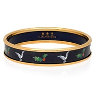 Halcyon Days Dove of Peace on Navy Bangle