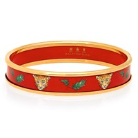 Halcyon Days Festive Leopard on Red Bangle
