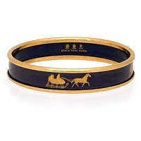 Halcyon Days Horse and Sleigh on Navy Bangle