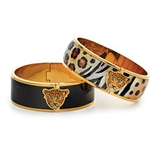 Halcyon Days Leopard Hinged Bangles