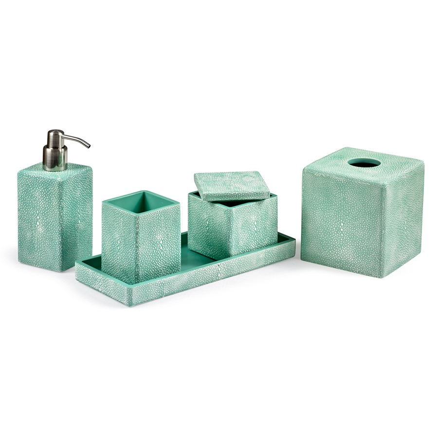 Shagreen Turquoise Bathroom Accessories Bath Accessories Home