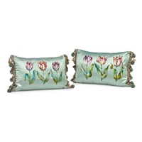 Three Tulips Silk Pillows