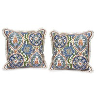 Silk Majolica Tile Pillows
