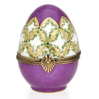 Purple Egg Limoges Boxes