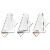 Linen Pique Embroidered Napkins